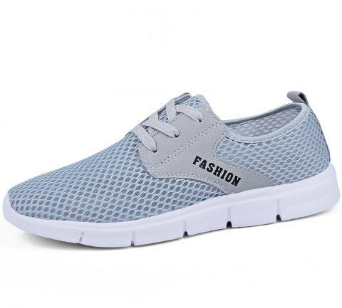 Lightweight Breathable Mesh Beach Shoes Comfort Flats Sneakers - GRAY 40