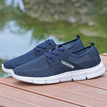Lightweight Breathable Mesh Beach Shoes Comfort FlatsSneakers - NAVY BLUE 45