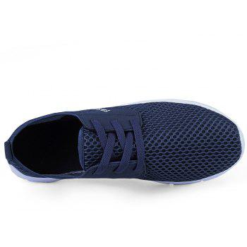 Lightweight Breathable Mesh Beach Shoes Comfort FlatsSneakers - NAVY BLUE 39