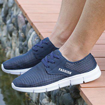Lightweight Breathable Mesh Beach Shoes Comfort FlatsSneakers - NAVY BLUE 46