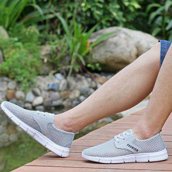 Lightweight Breathable Mesh Beach Shoes Comfort FlatsSneakers - GRAY 40