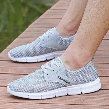 Lightweight Breathable Mesh Beach Shoes Comfort FlatsSneakers - GRAY 44