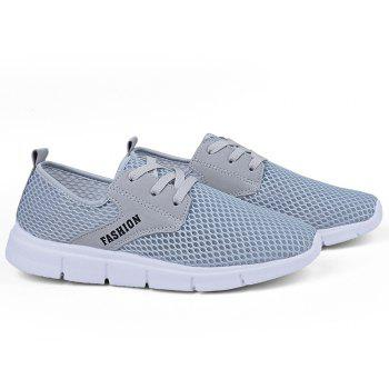 Lightweight Breathable Mesh Beach Shoes Comfort Flats Sneakers - GRAY 46