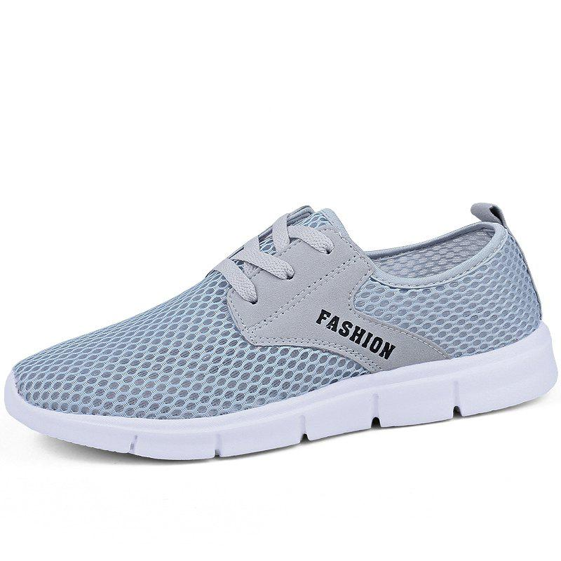 Lightweight Breathable Mesh Beach Shoes Comfort Flats Sneakers - GRAY 42