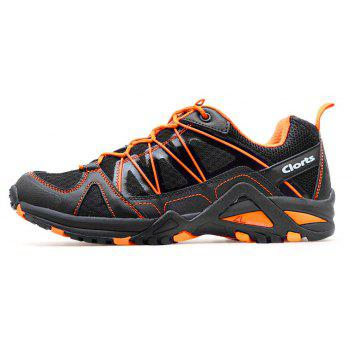 Clorts Lightweight Sports Shoes Breathable Outdoor Running Shoes For Men - BLACK 42
