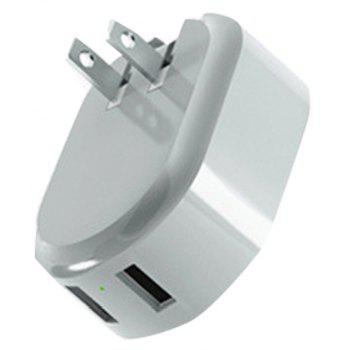Creative Double USB Mobile Phone Charger with Night Light - GRAY