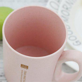 Combination of Green Pink 450ML Wheat Straw with Cap Water Cup - PINK BUBBLEGUM
