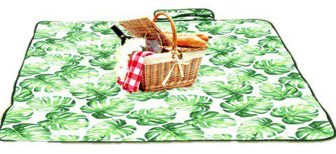 Suede Portable Picnic Mat Outdoor Anti Tide Camping Mat - GREEN