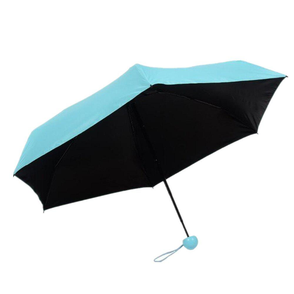 Capsule Type Mini Sun Protection Ultralight Umbrella - CYAN OR AQUA
