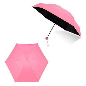 Mini Ultra Light Sun Protection Capsule Umbrella - PINK
