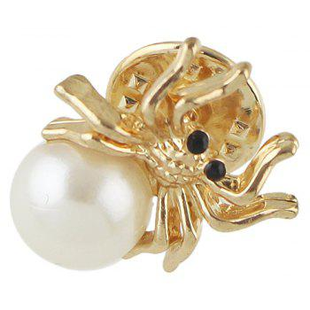 Lovely Owl Swan Spider Bowknot Cherry Brooch - WARM WHITE