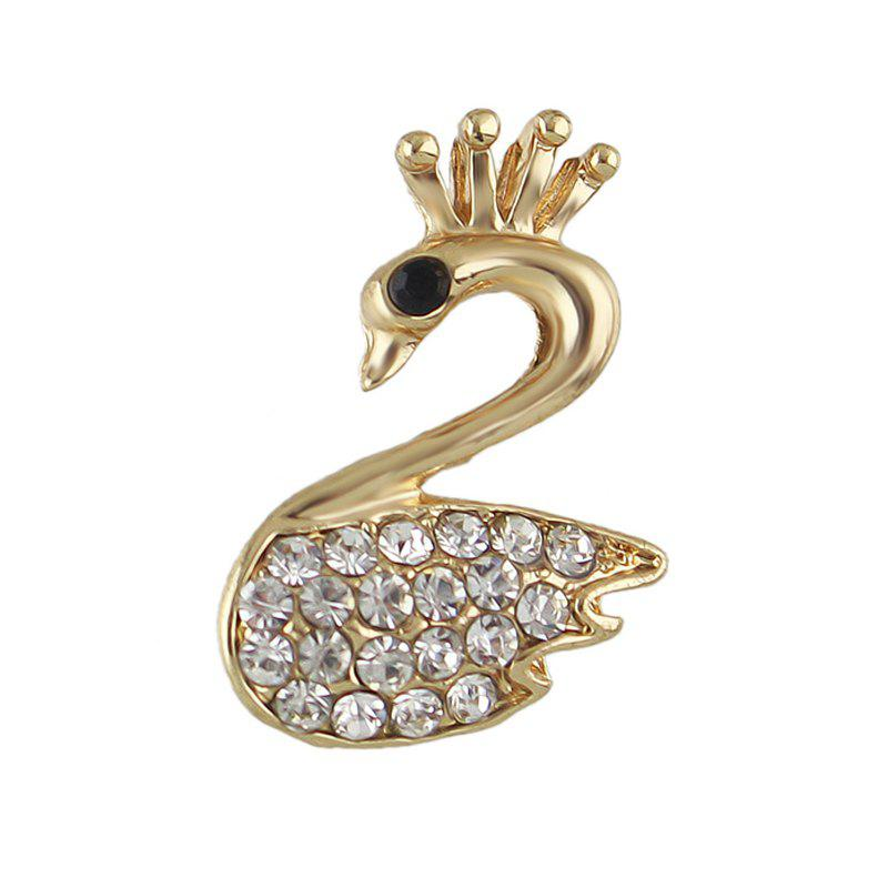 Lovely Owl Swan Spider Bowknot Cherry Brooch - NIGHT