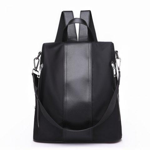 All-match Large Capacity Casual Backpack - BLACK