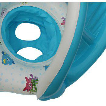 Removable Shading Mother-child Boat Swimming Ring - multicolor