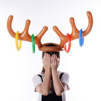 Children Interactive Inflatable Antler Ring Toy - multicolor