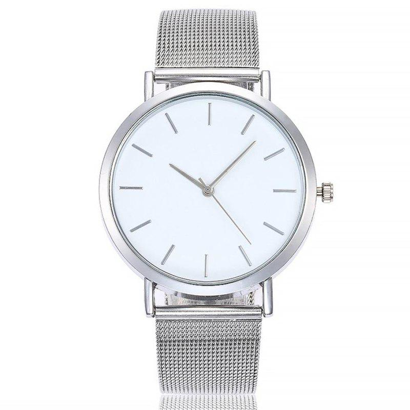 Casual Quartz Band Marble Strap Watch - WARM WHITE