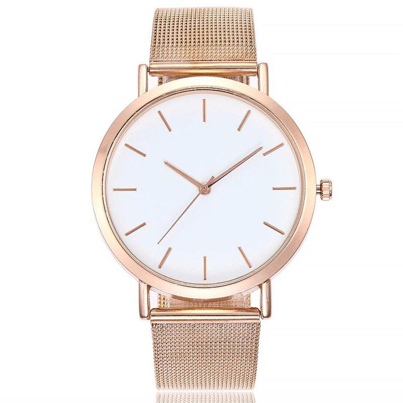 Casual Quartz Band Marble Strap Watch - ROSE GOLD