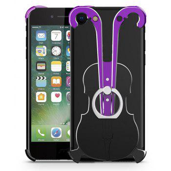 Cover Case for iPhone 7 Violin Pattern Aluminum Metal Hard Protective Ring - multicolor A