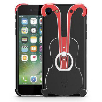 Cover Case for iPhone 7 Violin Pattern Aluminum Metal Hard Protective Ring - multicolor B