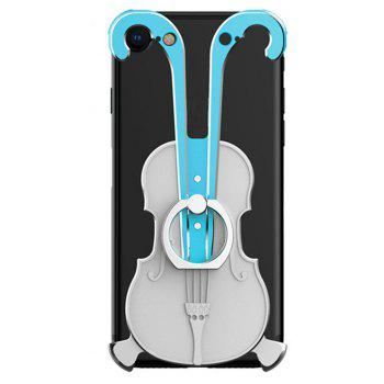 Cover Case for iPhone 7 Violin Pattern Aluminum Metal Hard Protective Ring - multicolor E
