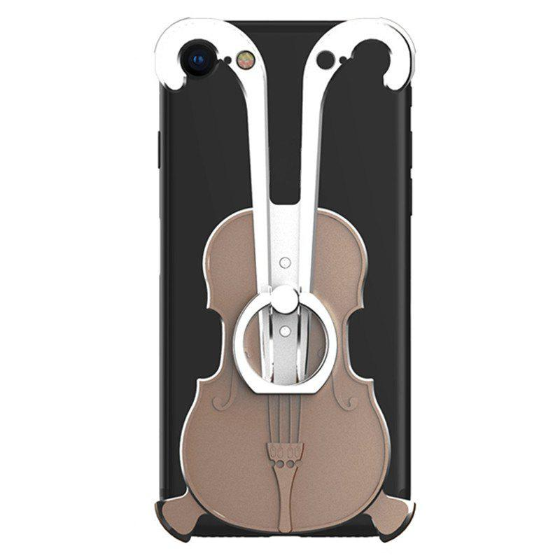 Cover Case for iPhone 7 Violin Pattern Aluminum Metal Hard Protective Ring - multicolor C