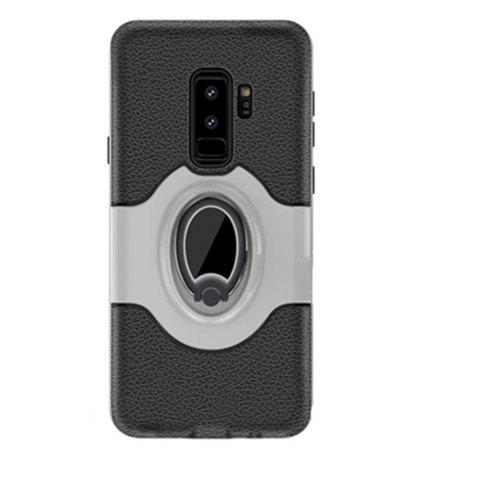Cover Case for Samsung S9 Plus Stand Magnetic Suction Bracket Finger Ring Armor - SILVER
