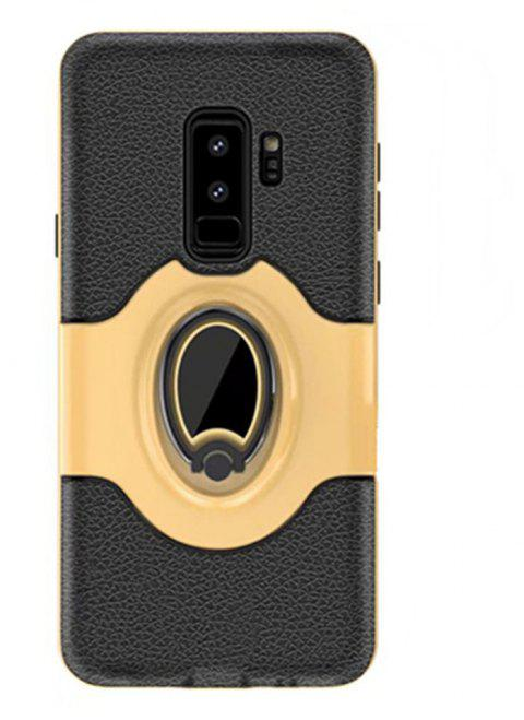 Cover Case for Samsung S9 Plus Stand Magnetic Suction Bracket Finger Ring Armor - GOLD