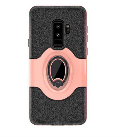Cover Case for Samsung S9 Plus Stand Magnetic Suction Bracket Finger Ring Armor - ROSE GOLD