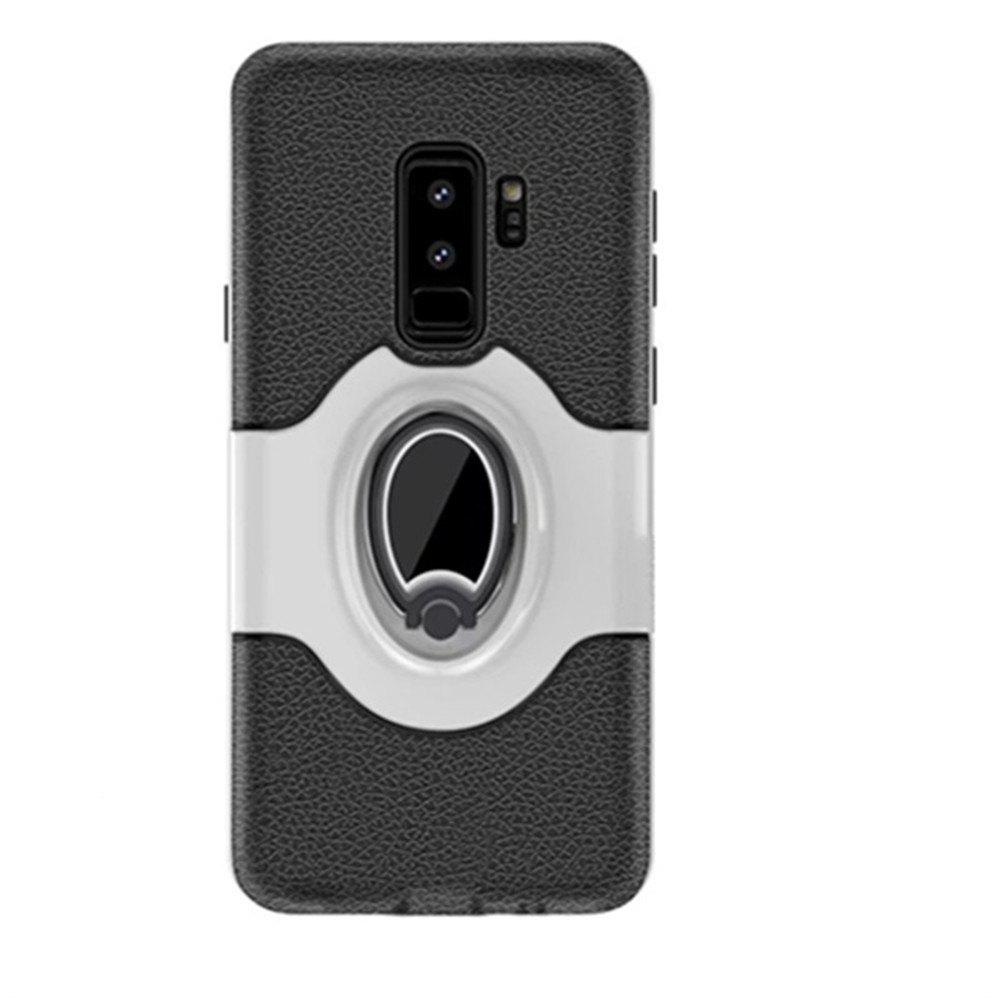 Cover Case for Samsung S9 Plus Stand Magnetic Suction Bracket Finger Ring Armor - WHITE