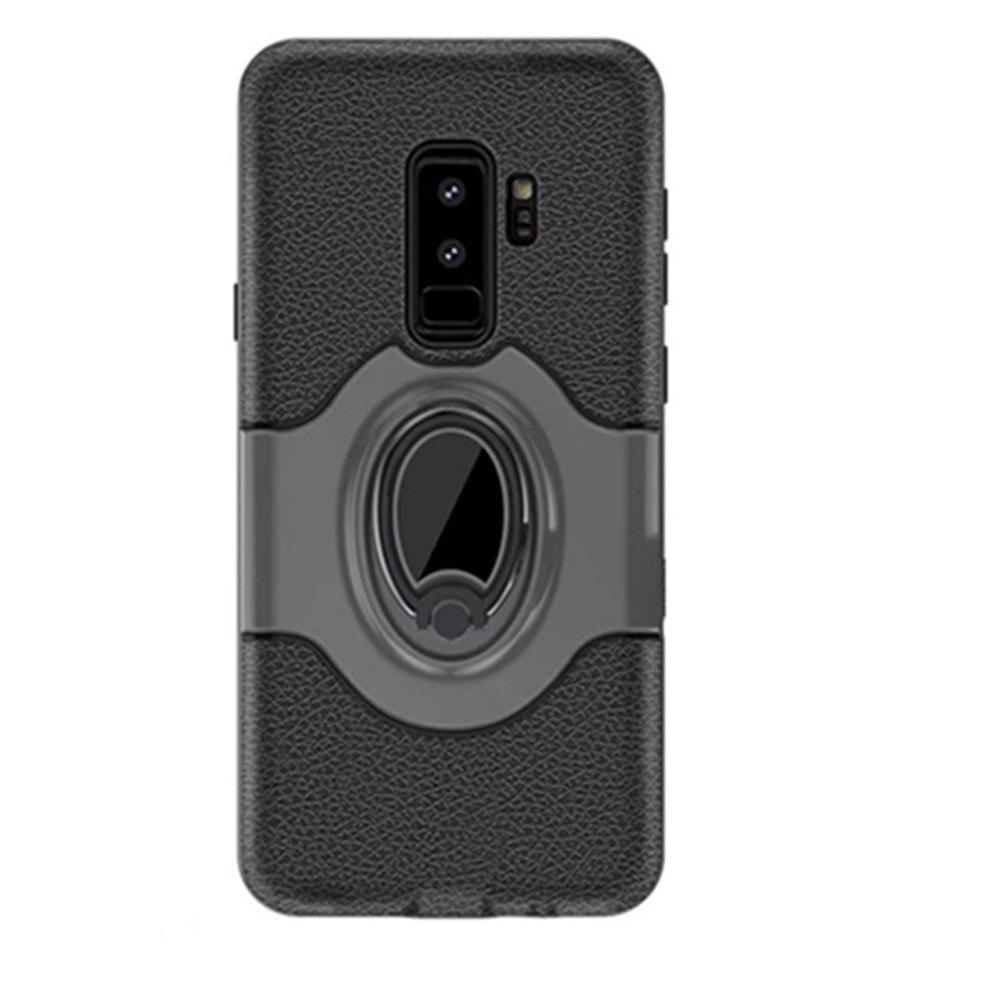 Cover Case for Samsung S9 Plus Stand Magnetic Suction Bracket Finger Ring Armor - GRAY