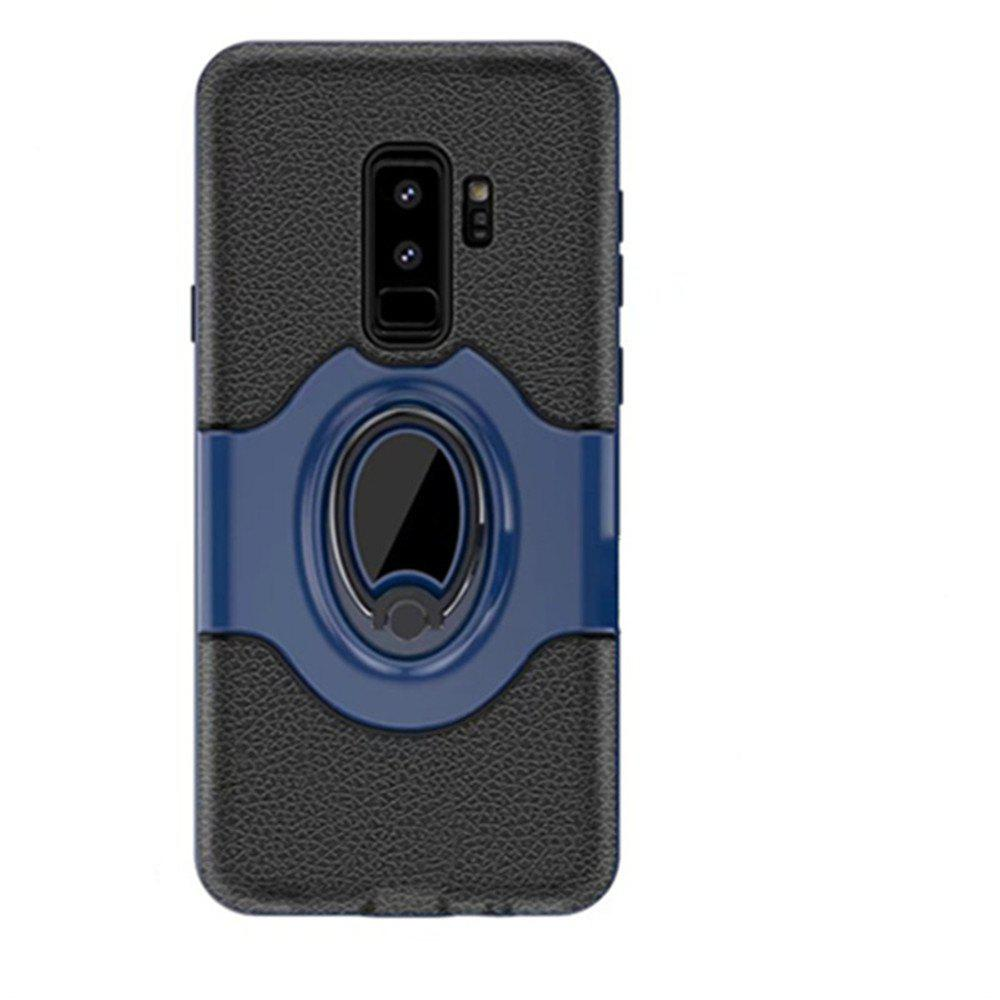 Cover Case for Samsung S9 Plus Stand Magnetic Suction Bracket Finger Ring Armor - BLUE