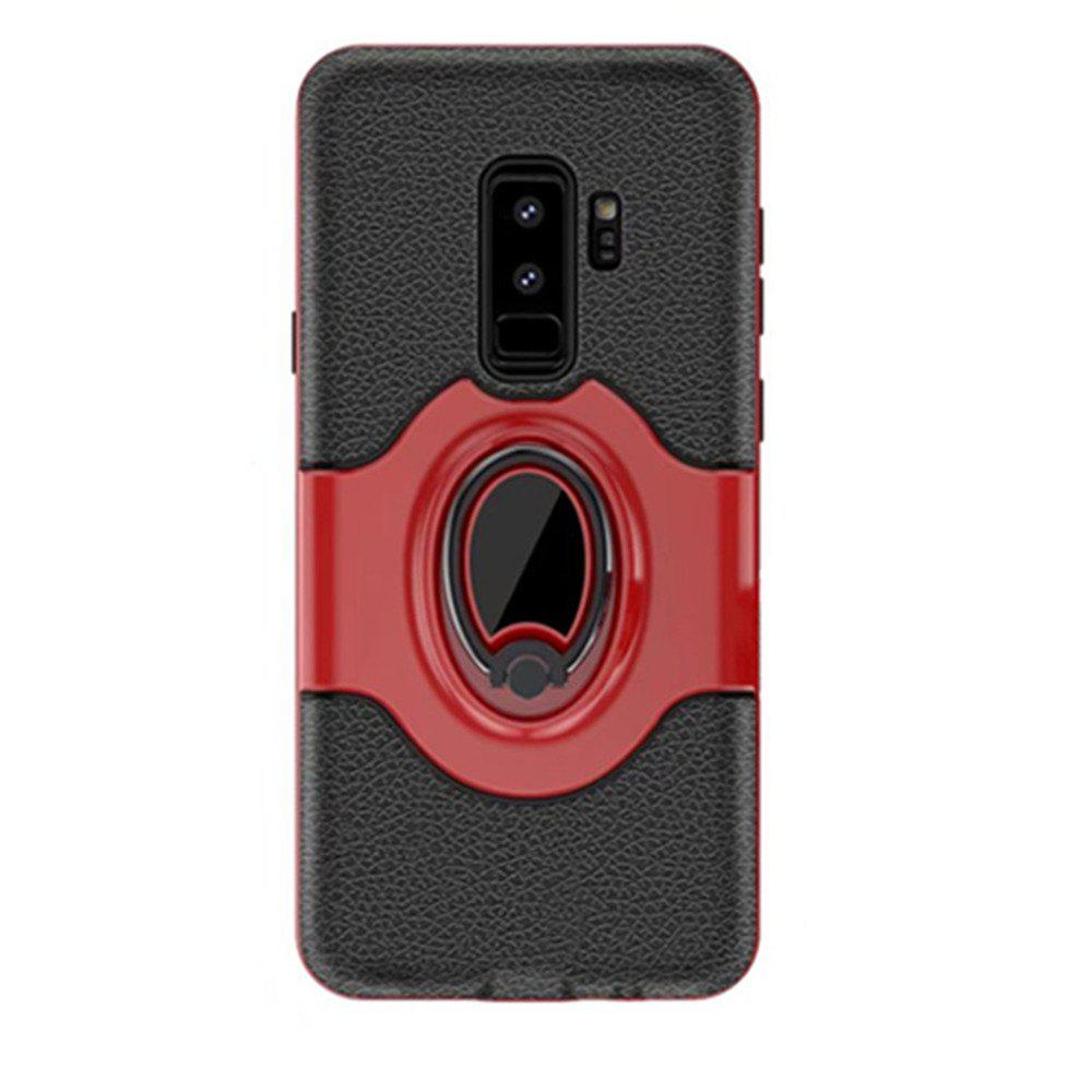 Cover Case for Samsung S9 Plus Stand Magnetic Suction Bracket Finger Ring Armor - RED