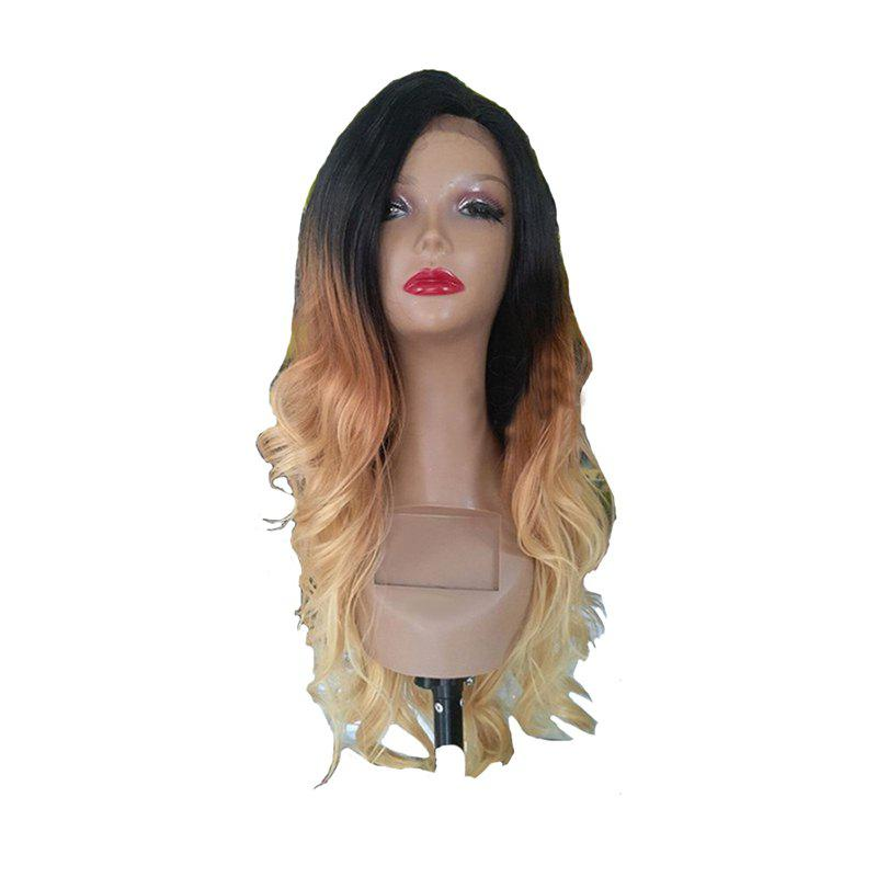 Golden Large Roll Chemical Fiber Front Lace Wig - BLONDE 24INCH