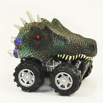 Small Dinosaur Pull Back Model Car Mini Plastic Toy for Kids Gift - multicolor A