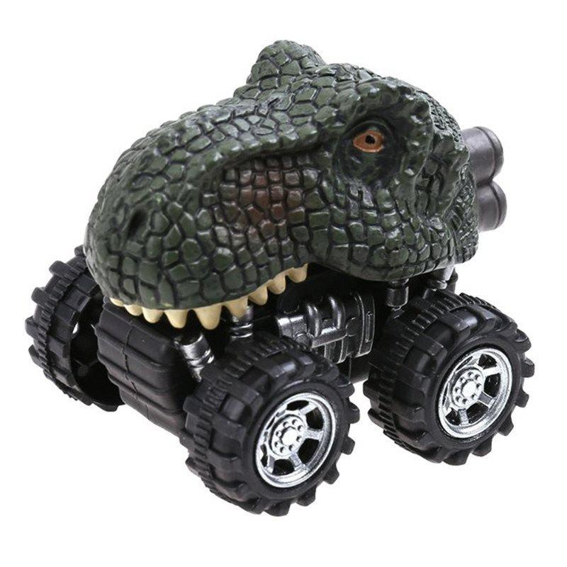 Small Dinosaur Pull Back Model Car Mini Plastic Toy for Kids Gift - multicolor D