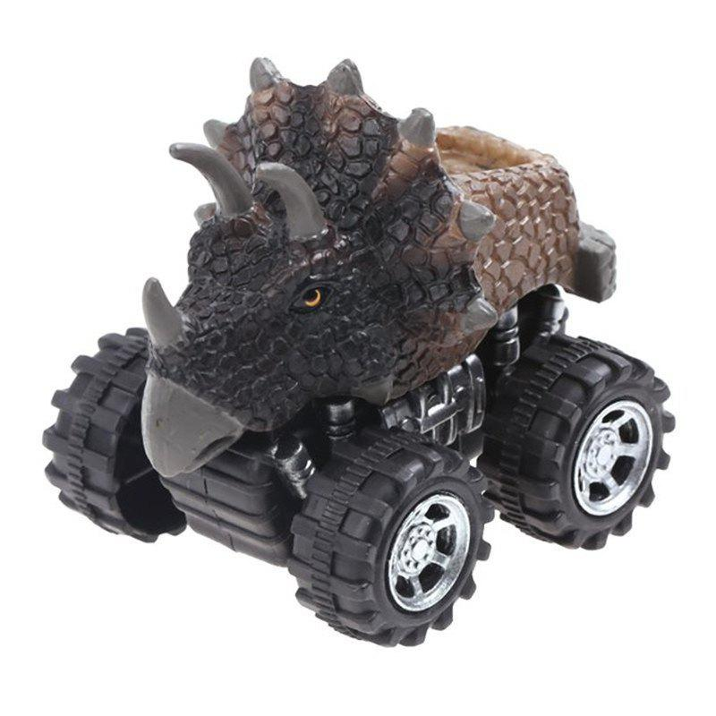 Small Dinosaur Pull Back Model Car Mini Plastic Toy for Kids Gift acrocanthosaurus dinosaur toy model classic toys for boys children gift 302329