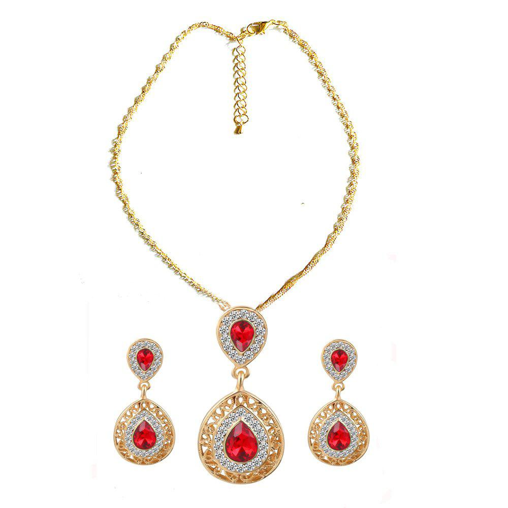 Фото New Style Wedding Dinner Earrings Droplets Pendant Necklace Set of Ornaments