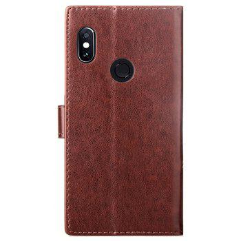 Flip Case for Xiaomi Redmi Note 5 Pro PU Leahter Back Cover - BROWN