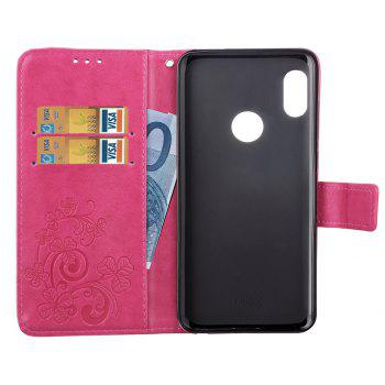 Flip Case for Xiaomi Redmi Note 5 Pro PU Leahter Back Cover - ROSE RED