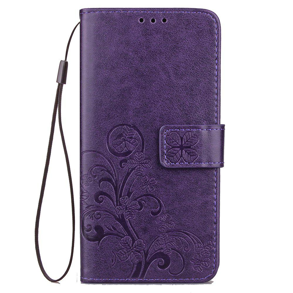 Flip Case for Xiaomi Redmi Note 5 Pro PU Leahter Back Cover - PURPLE
