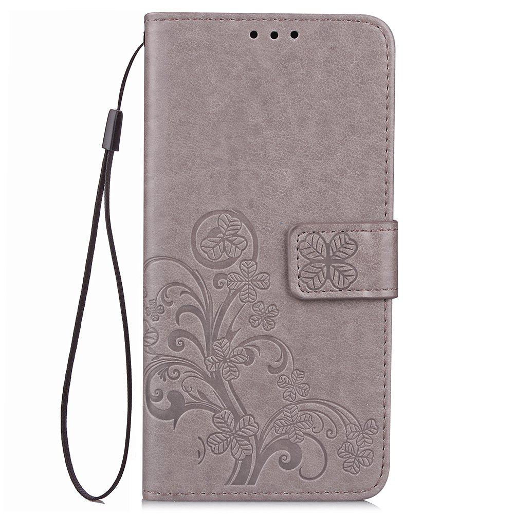 Flip Case for Xiaomi Redmi Note 5 Pro PU Leahter Back Cover - GRAY