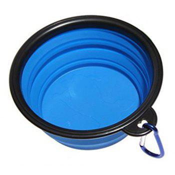 Portable Silicone Collapsible Pet Bowl - BLUE