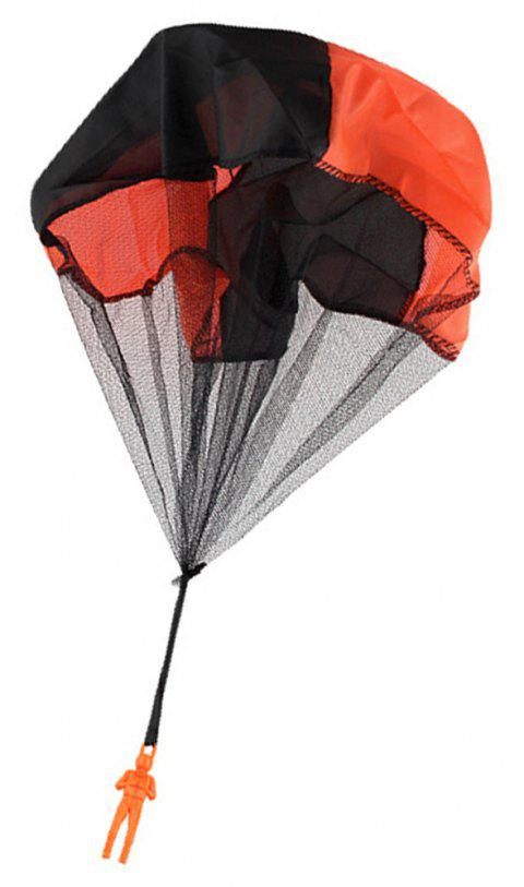 Soldier Men Base Jumpers Kids Hand Throwing Parachute Classic Operated Cloth Toy - BEE YELLOW