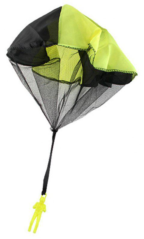Soldier Men Base Jumpers Kids Hand Throwing Parachute Classic Operated Cloth Toy - YELLOW