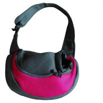 Portable Outdoor Pet Dog Bag - ROSE RED