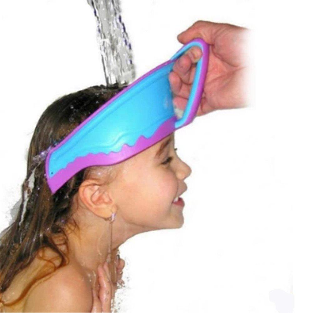 Children Shampoo Adjustable Shower Cap - BUTTERFLY BLUE