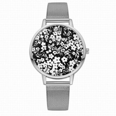 Lvpai P163 Women Flowers Dial Alloy Mesh Band Quartz Watches - SILVER