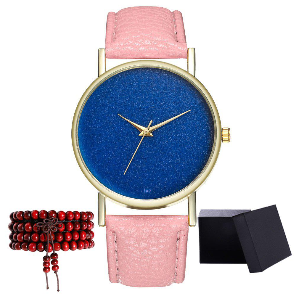 Kingou T97 Fashion Creative Sky Pattern Quartz Watch - PINK