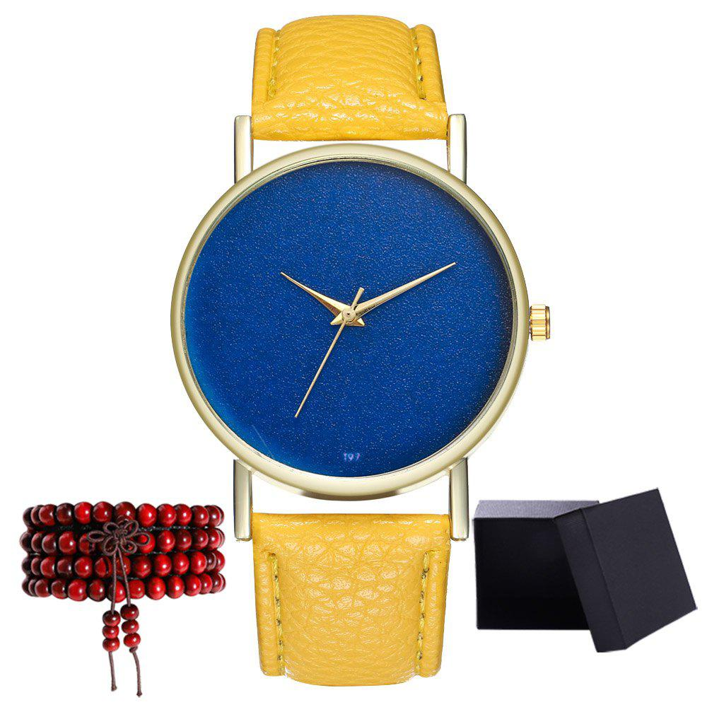 Kingou T97 Fashion Creative Sky Pattern Quartz Watch - YELLOW