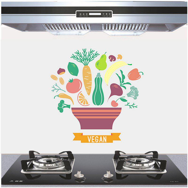 Creative Kitchen Vegetable Design with Anti-Oil Wall Stickers chic quality casual style solid color cotton pattern knitted blanket